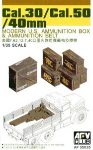AF35035  .30 Cal/.50 Cal/40mm Modern US ammo box & belts